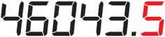 electronic meter display